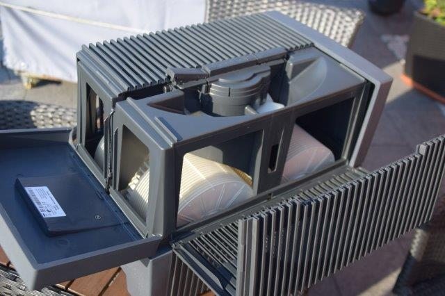 Innen Ventilator und Platten