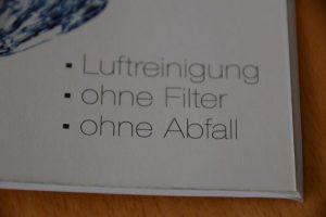 kein Filterystem Luftwäscher