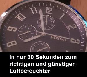 30 Sekunden Luftbefeuchter